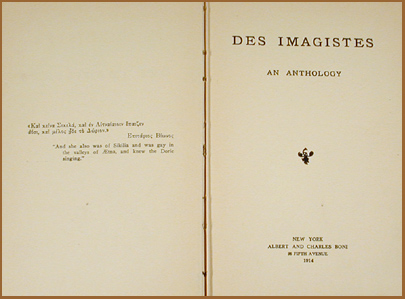 imagism in the works of ezra pound and amy lowell Imagism as a literary movement flourished in england and america between 1912 and 1917 its chief exponents included ezra pound, tehulme, hilda doolittle, richard aldington and amy lowell.